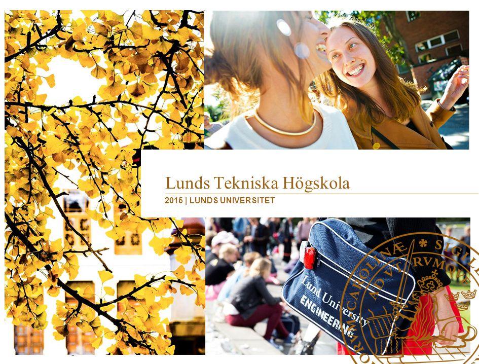 Lunds Tekniska Högskola | 2015 Lunds universitet Grundat 1666 42 000 studenter 7 500 anställda -830 professorer -4 300 lärare/forskare och doktorander Omsättning 7,8 miljarder – 1/3 utbildning, 2/3 forskning