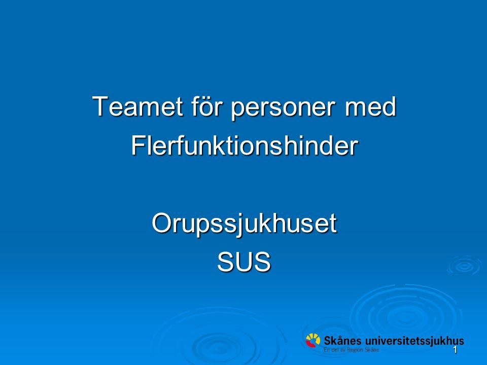 1 Teamet för personer med FlerfunktionshinderOrupssjukhusetSUS