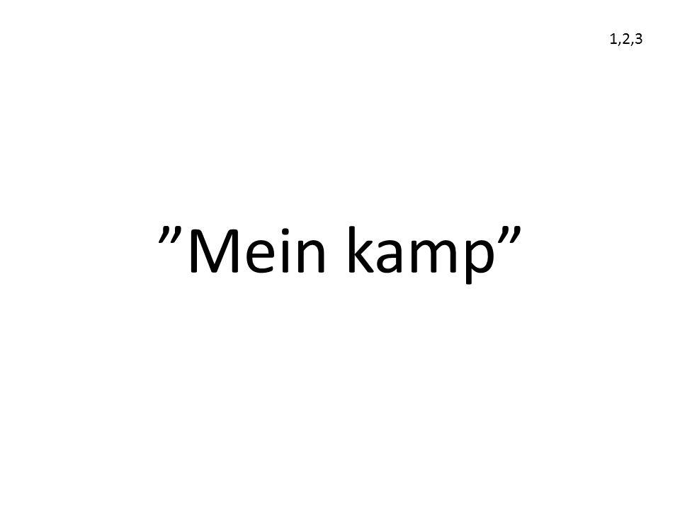 """""""Mein kamp"""" 1,2,3"""