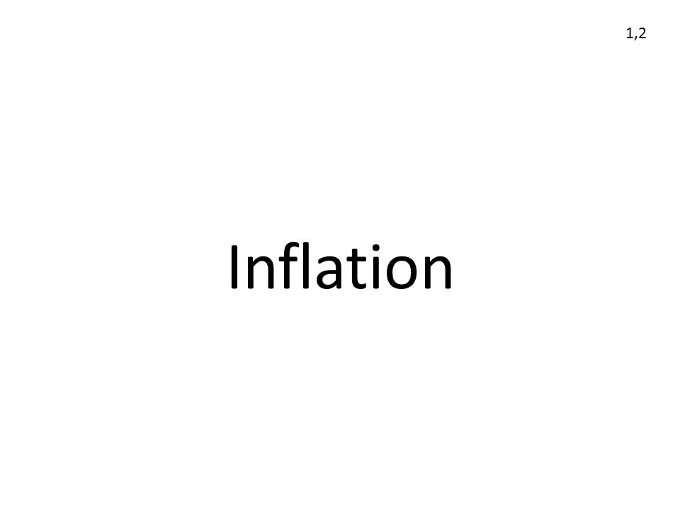 Inflation 1,2