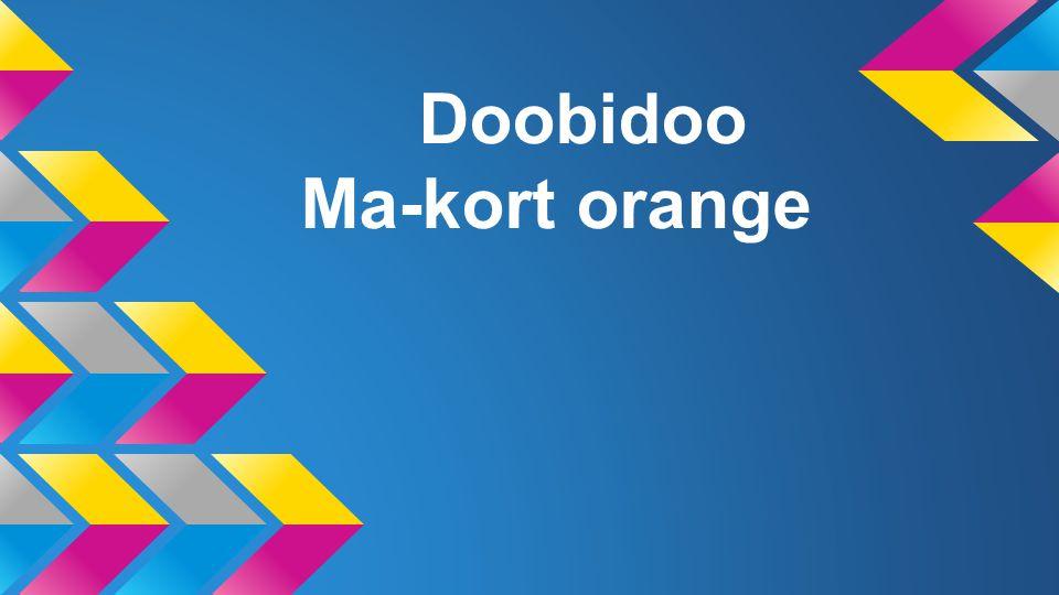 Doobidoo Ma-kort orange