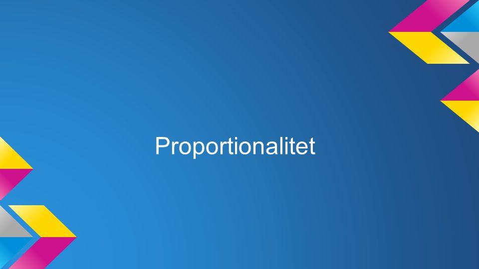 Proportionalitet