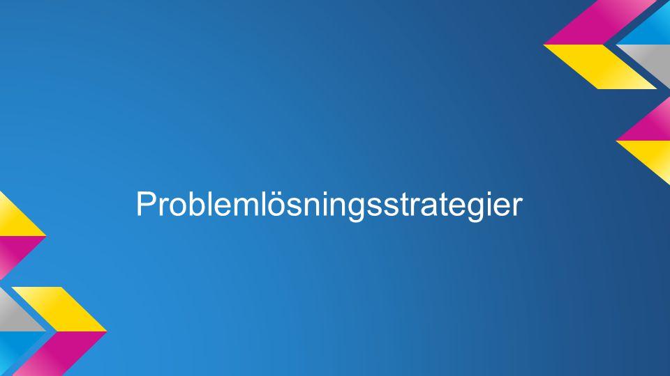 Problemlösningsstrategier