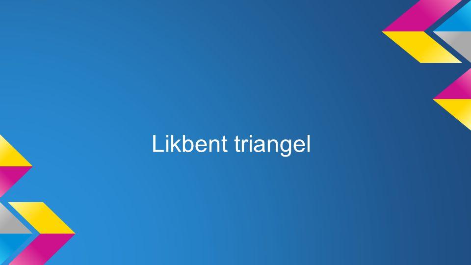 Likbent triangel