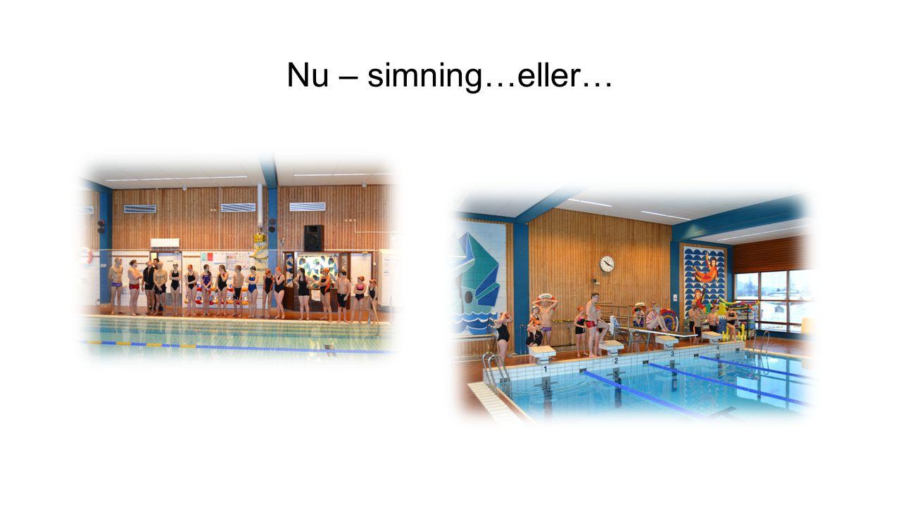 Nu – simning…eller…