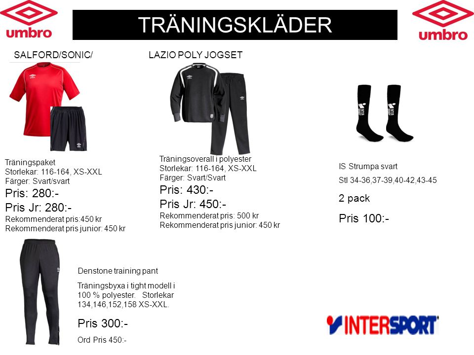 Denstone training pant Träningsbyxa i tight modell i 100 % polyester.