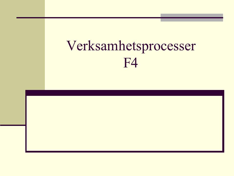 Verksamhetsprocesser F4
