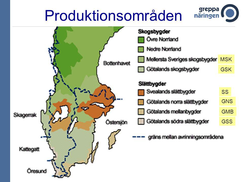 GNS GSK Produktionsområden GMB GSS SS MSK