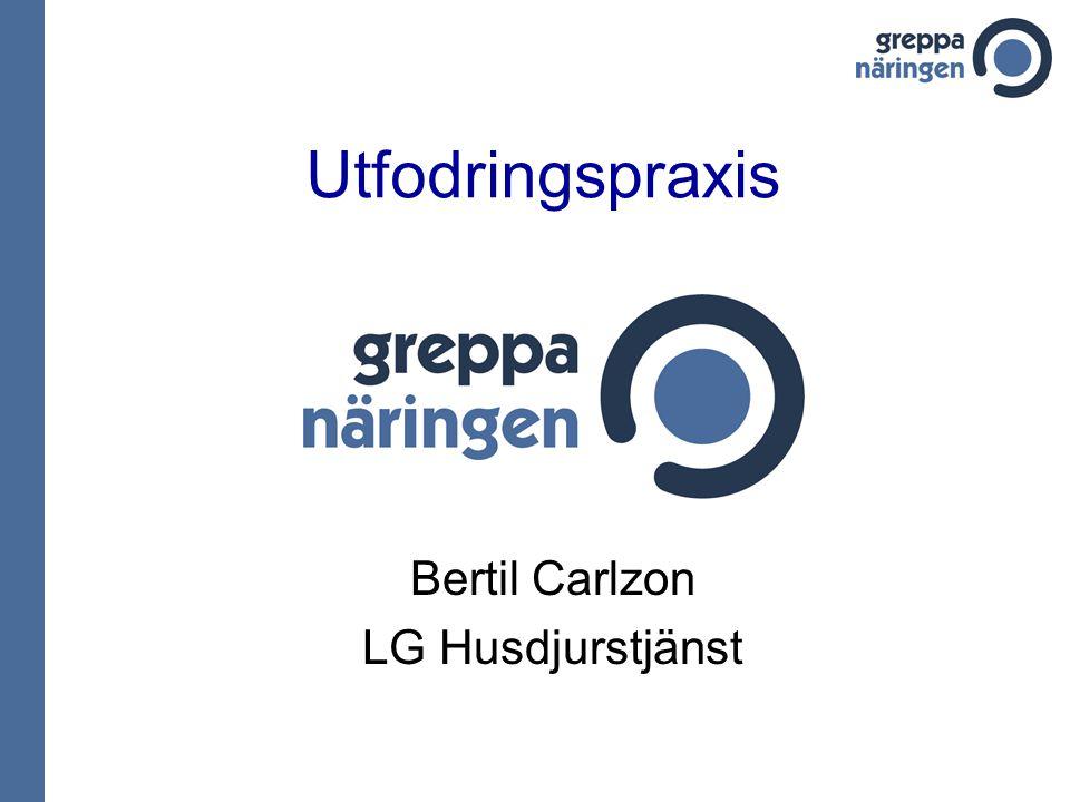 Utfodringspraxis Bertil Carlzon LG Husdjurstjänst