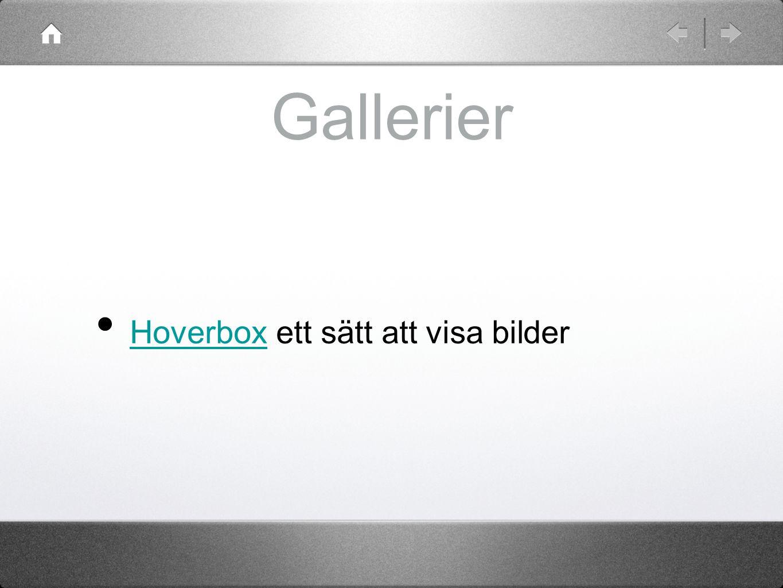 Gallerier Hoverbox ett sätt att visa bilder Hoverbox