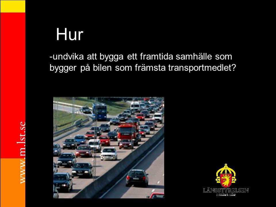 Hur -undvika att bygga ett framtida samhälle som bygger på bilen som främsta transportmedlet?