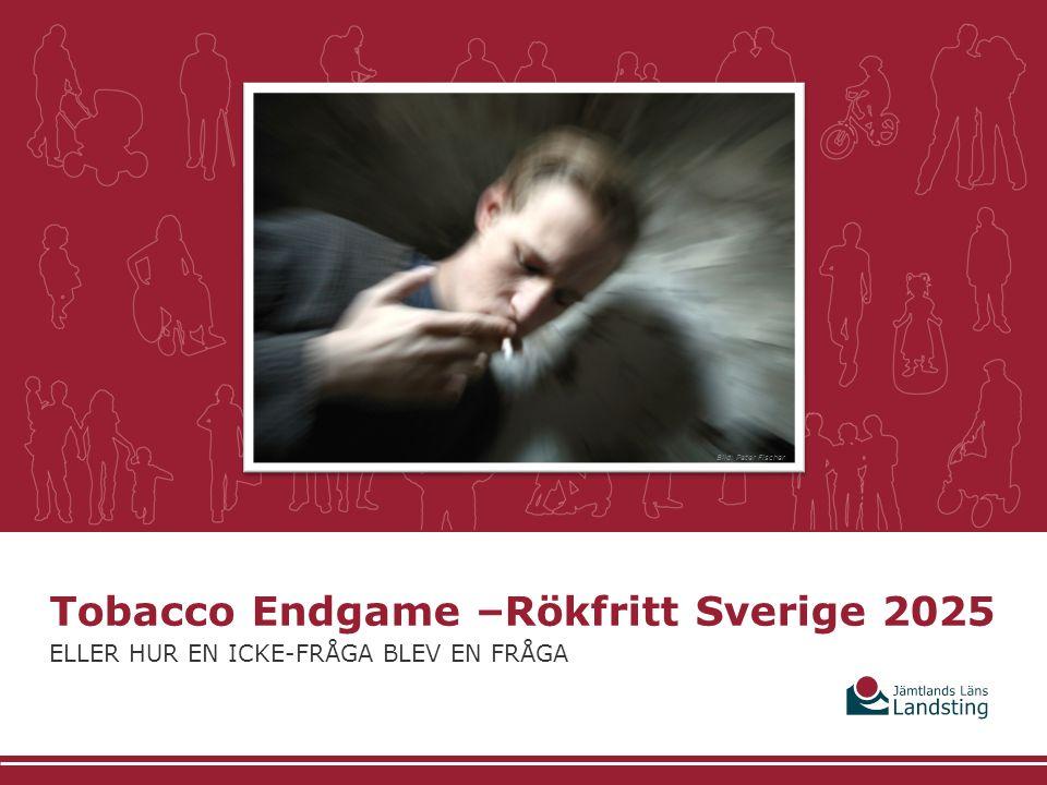 vad vi gör och hur Tobacco Endgame –Rökfritt Sverige 2025 ELLER HUR EN ICKE-FRÅGA BLEV EN FRÅGA Bild: Peter Fischer