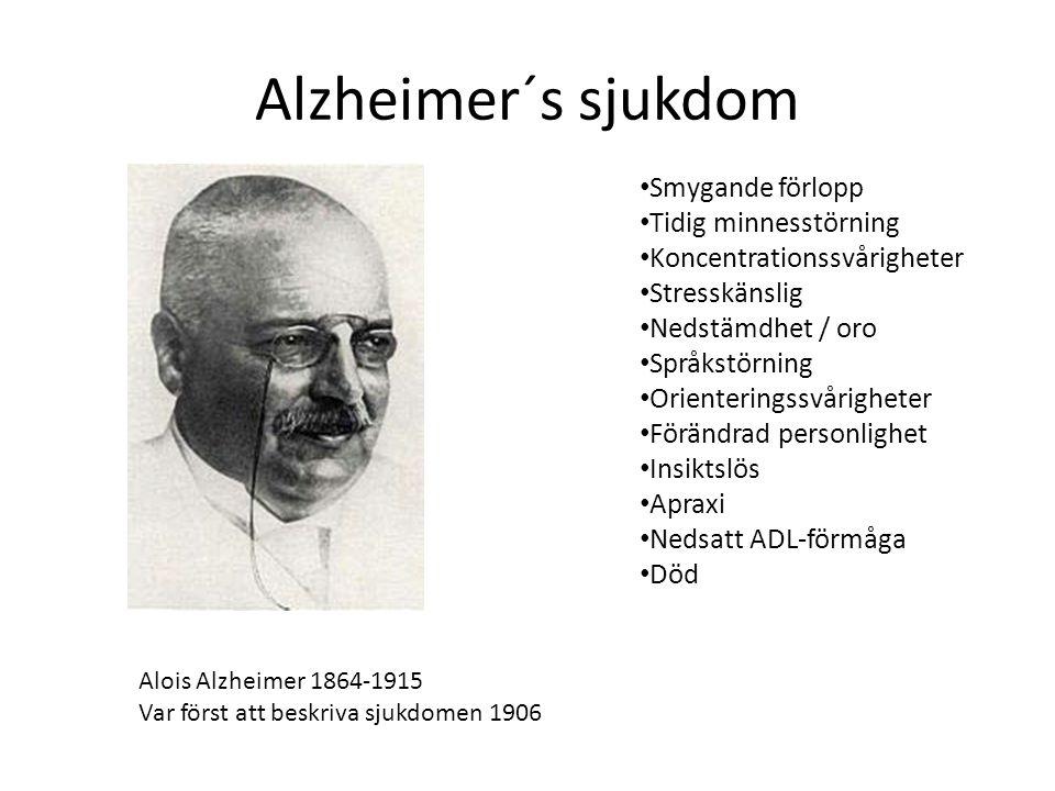 Alzheimer´s sjukdom primär neurodegenerativ sjukdom Tau –sjuka Beta-amyloida plack extracellulärt.