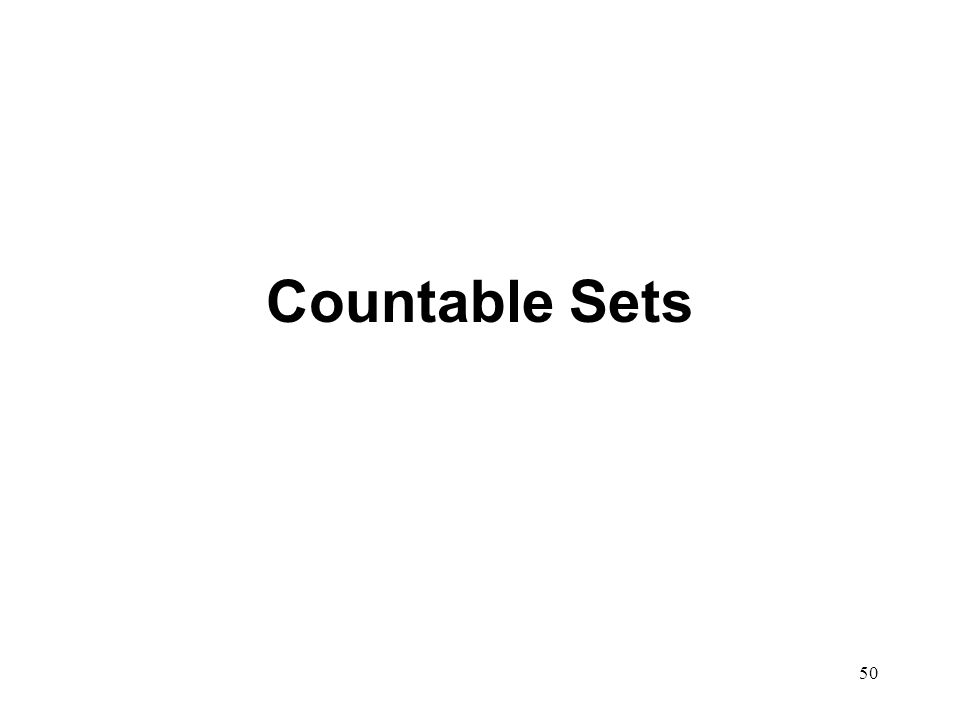 50 Countable Sets