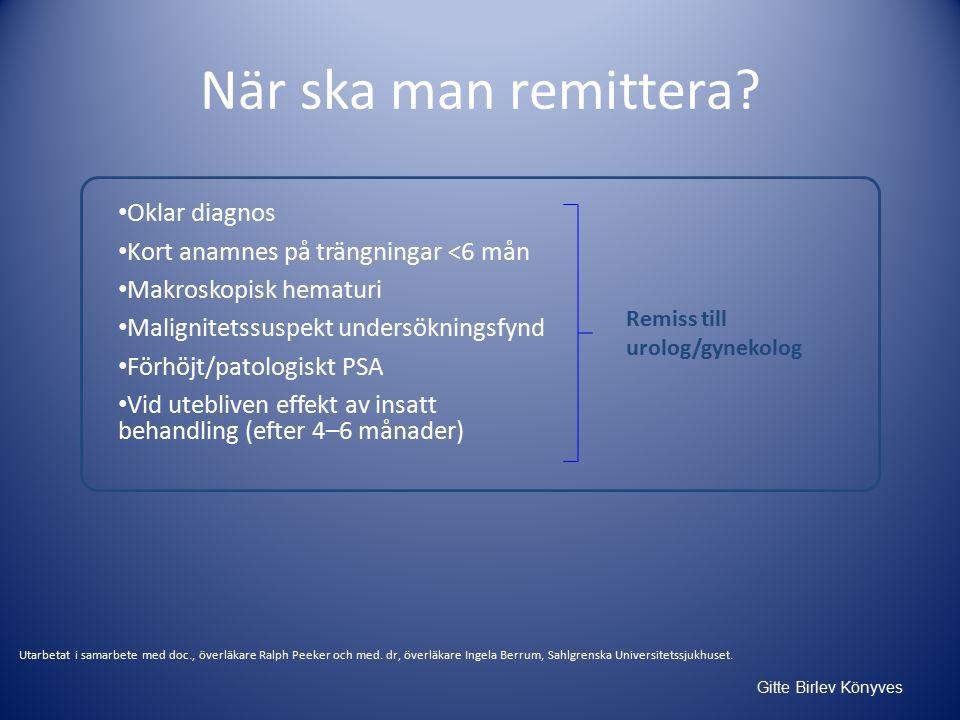 Gitte Birlev Könyves När ska man remittera.