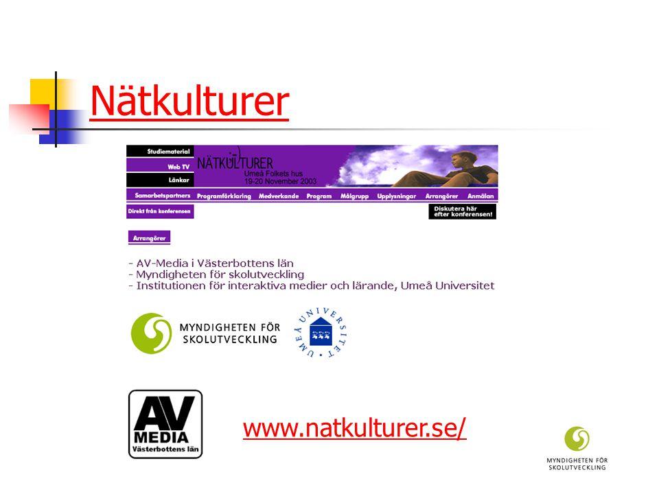 Nätkulturer www.natkulturer.se/