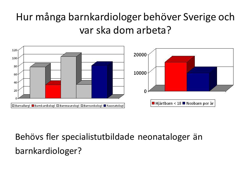 Hur många barnkardiologer behöver Sverige och var ska dom arbeta.