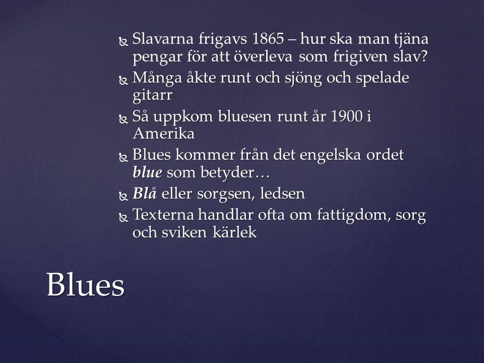  För att spela en blues behöver man bara kunna tre ackord.