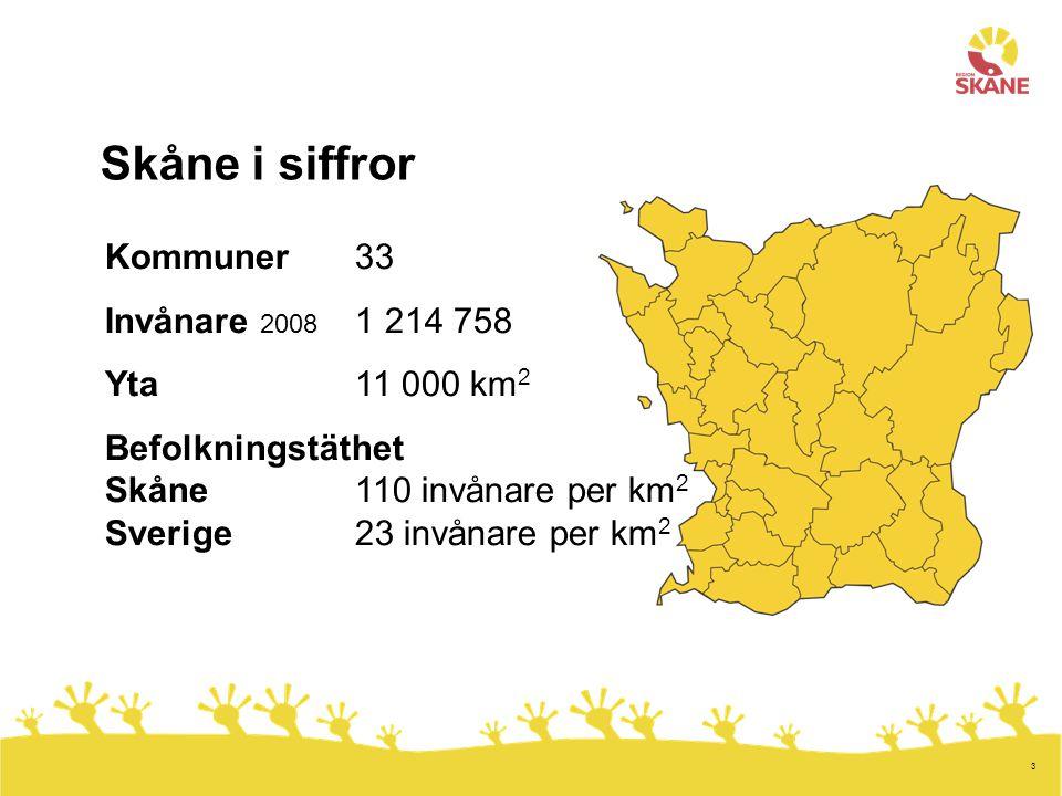 4 Region Skåne grundades 1 januari 1999.