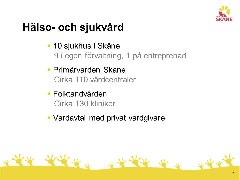 8 Regionfullmäktige MFpCKdMpSVSd 431397753710 Region Skånes högsta beslutande organ med övergripande ansvar för alla strategiska frågor.