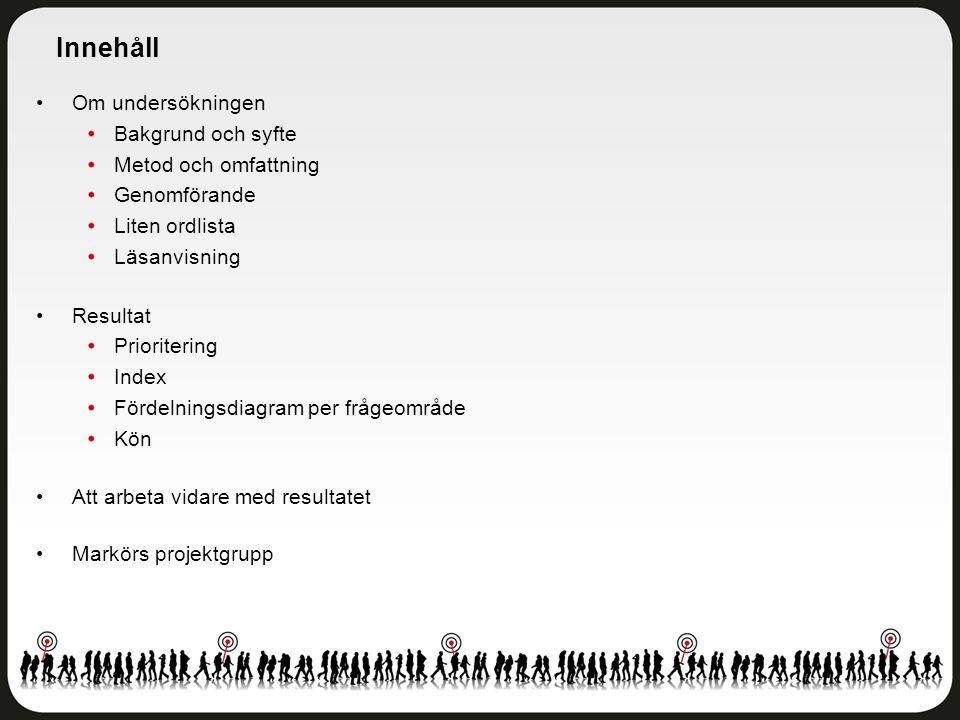 Delområdesindex per skola Angered - Åk 5 Antal svar: 274 av 473 elever Svarsfrekvens: 58 procent
