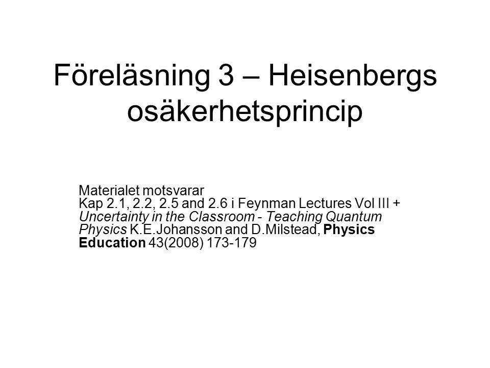 Heisenbergs osäkerhetsprincip mikroskop