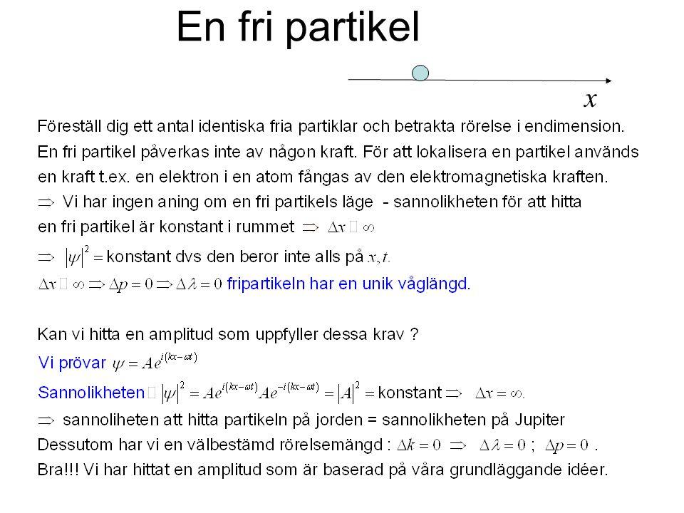 En fri partikel x