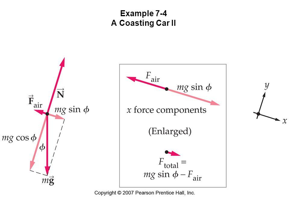 Example 7-4 A Coasting Car II