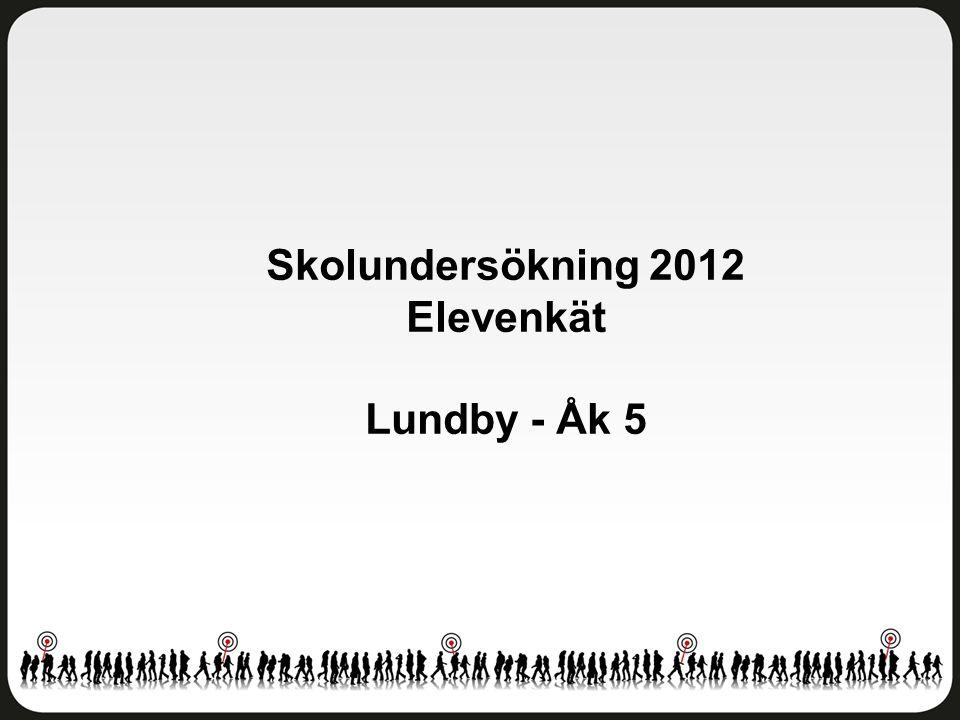 Skolundersökning 2012 Elevenkät Lundby - Åk 5