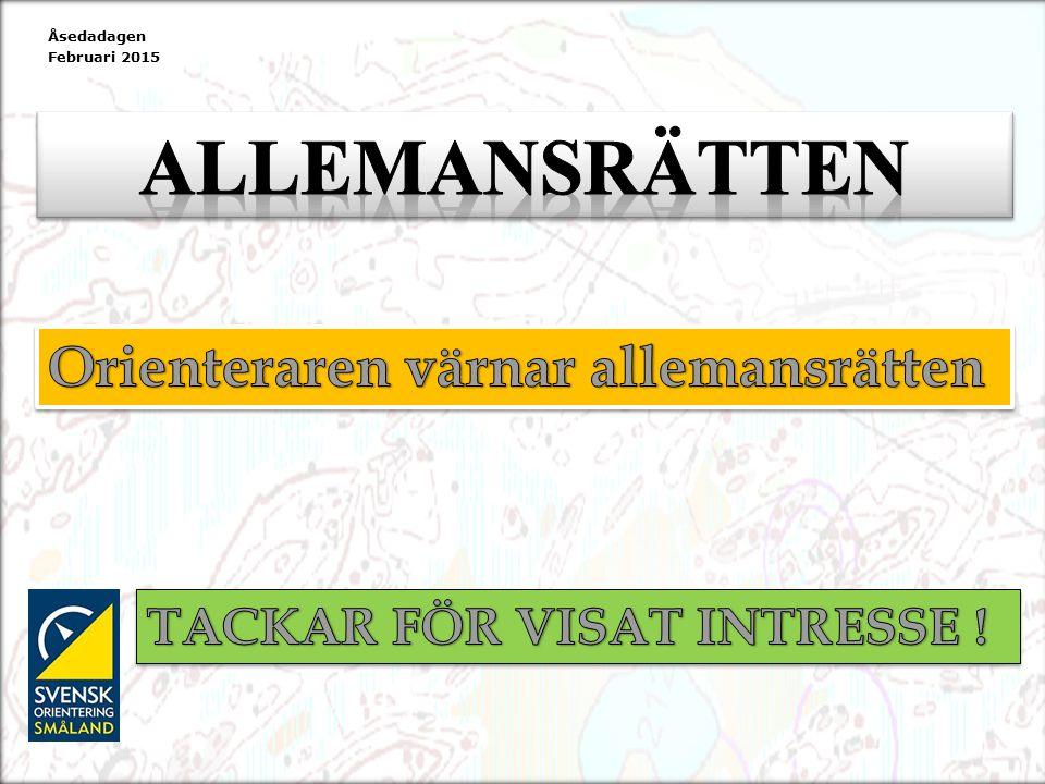 Åsedadagen Februari 2015