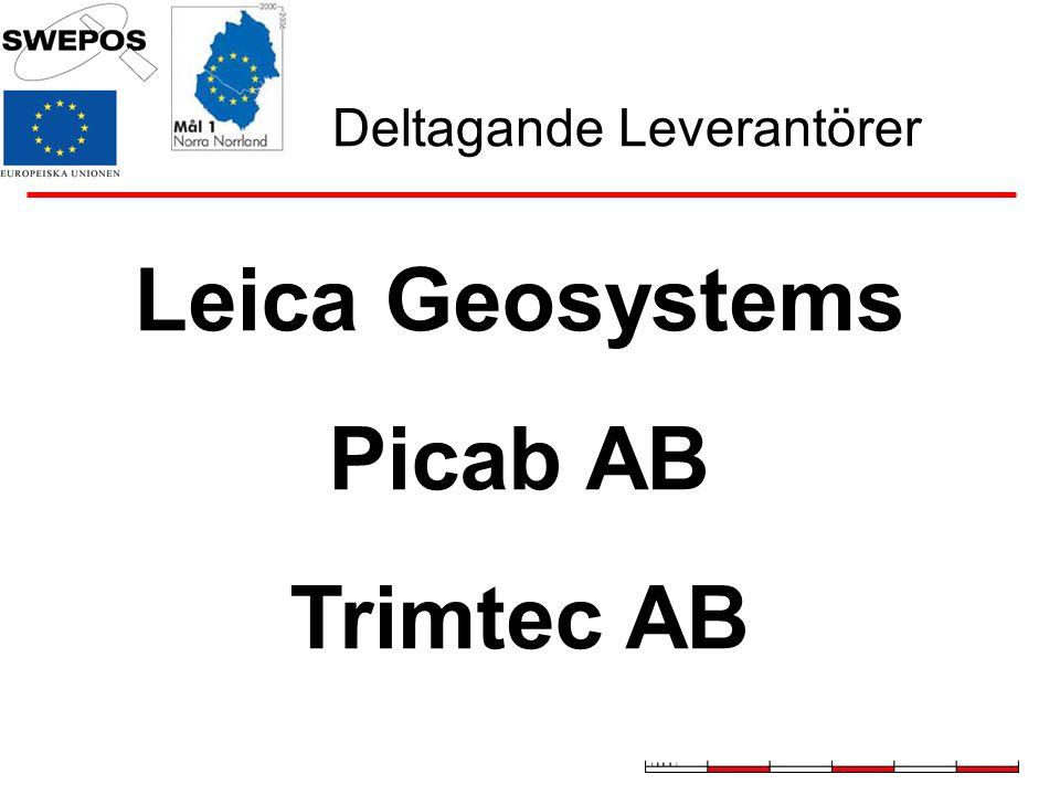 Deltagande Leverantörer Leica Geosystems Picab AB Trimtec AB