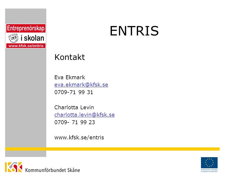ENTRIS Kontakt Eva Ekmark eva.ekmark@kfsk.se 0709-71 99 31 Charlotta Levin charlotta.levin@kfsk.se 0709- 71 99 23 www.kfsk.se/entris