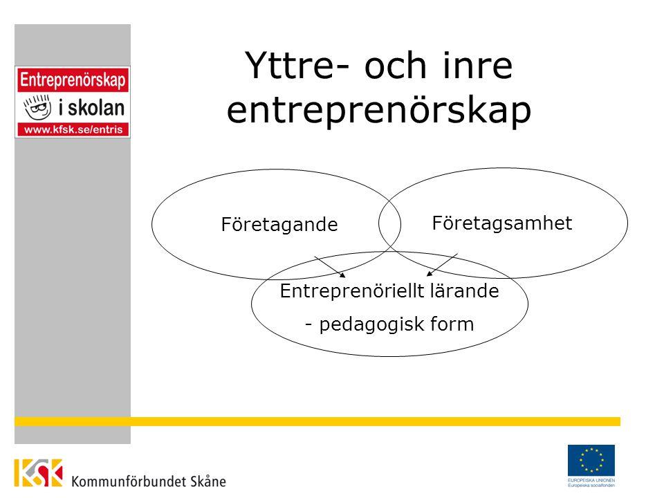 Varför entreprenörskap i skolan.