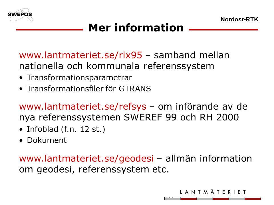 Nordost-RTK Mer information Infoblad (f.n.