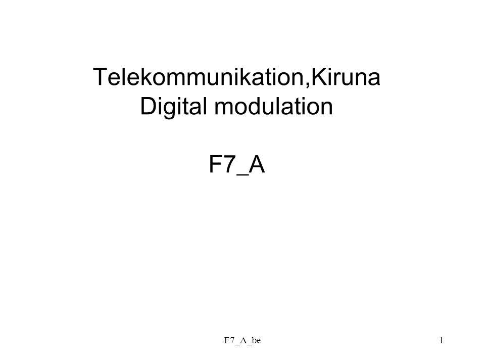F7_A_be1 Telekommunikation,Kiruna Digital modulation F7_A