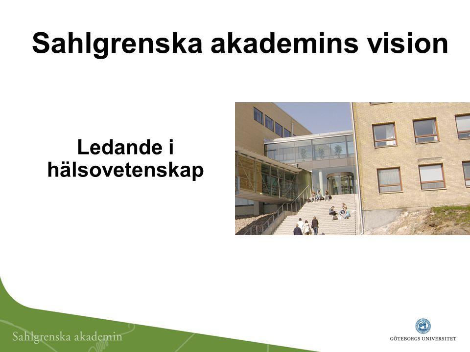 Ledande i hälsovetenskap Sahlgrenska akademins vision