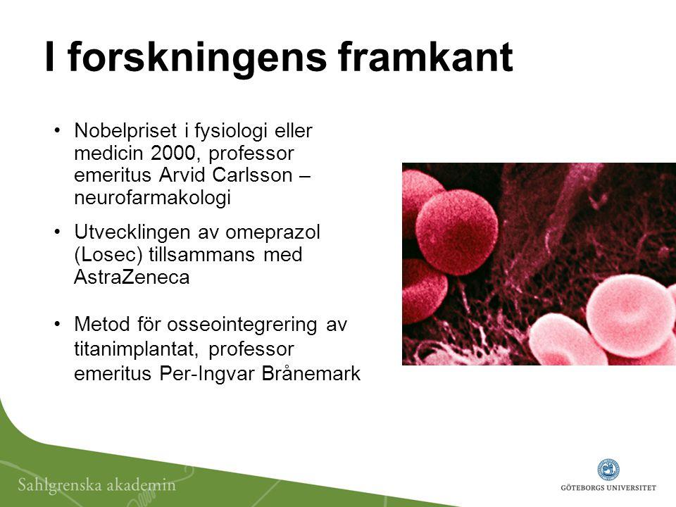 Nobelpriset i fysiologi eller medicin 2000, professor emeritus Arvid Carlsson – neurofarmakologi Utvecklingen av omeprazol (Losec) tillsammans med Ast