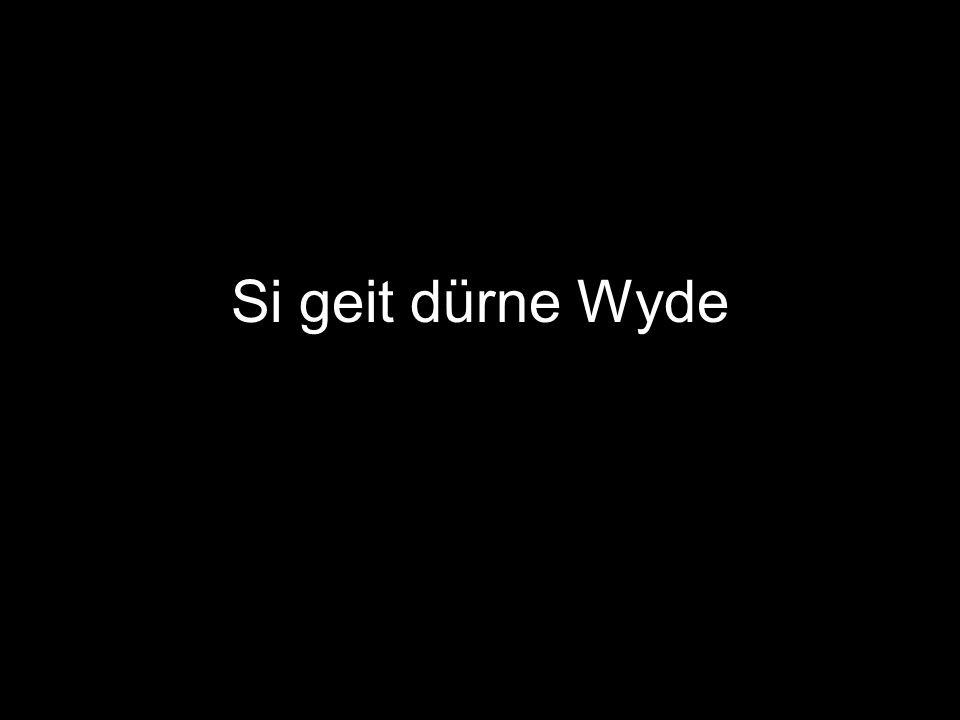 Si geit dürne Wyde