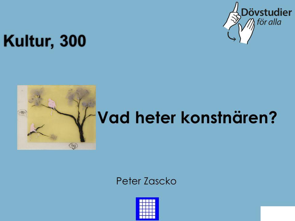 Kultur, 300 Peter Zascko Back Vad heter konstnären?