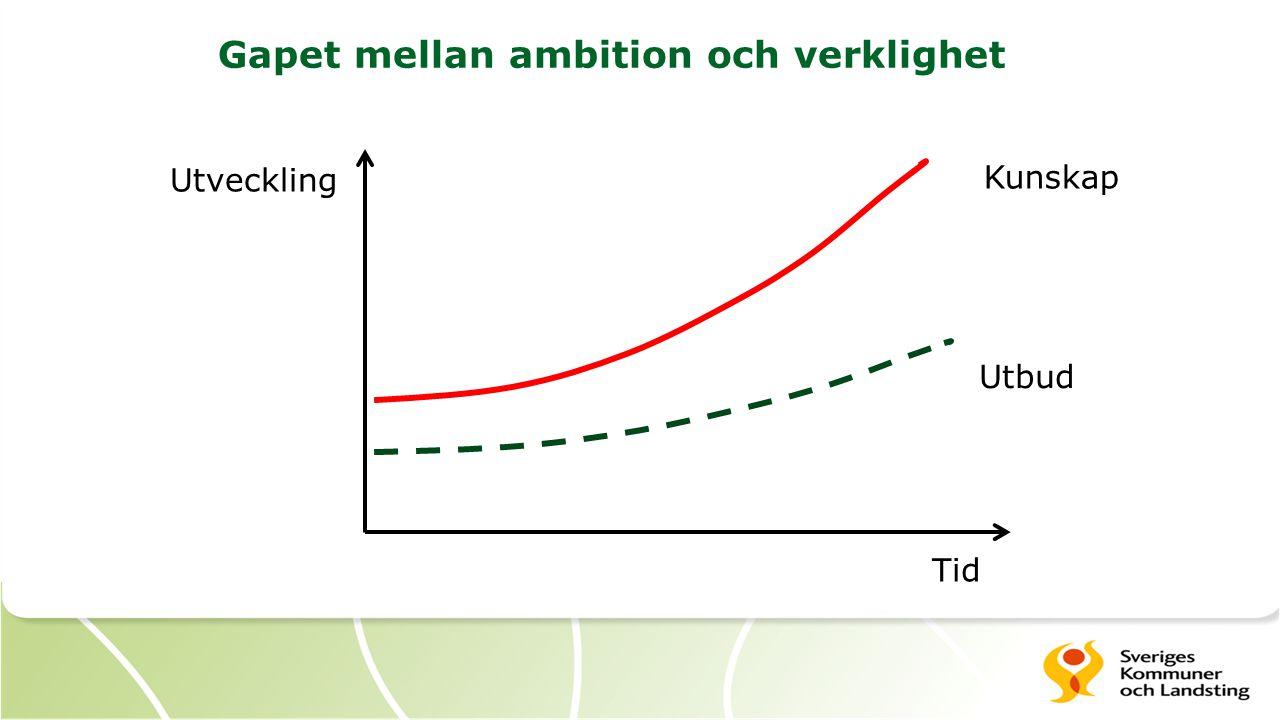 Utveckling Tid Kunskap Utbud Gapet mellan ambition och verklighet