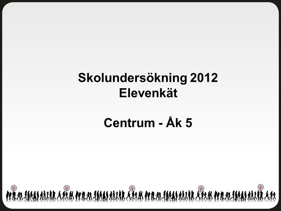Skolundersökning 2012 Elevenkät Centrum - Åk 5