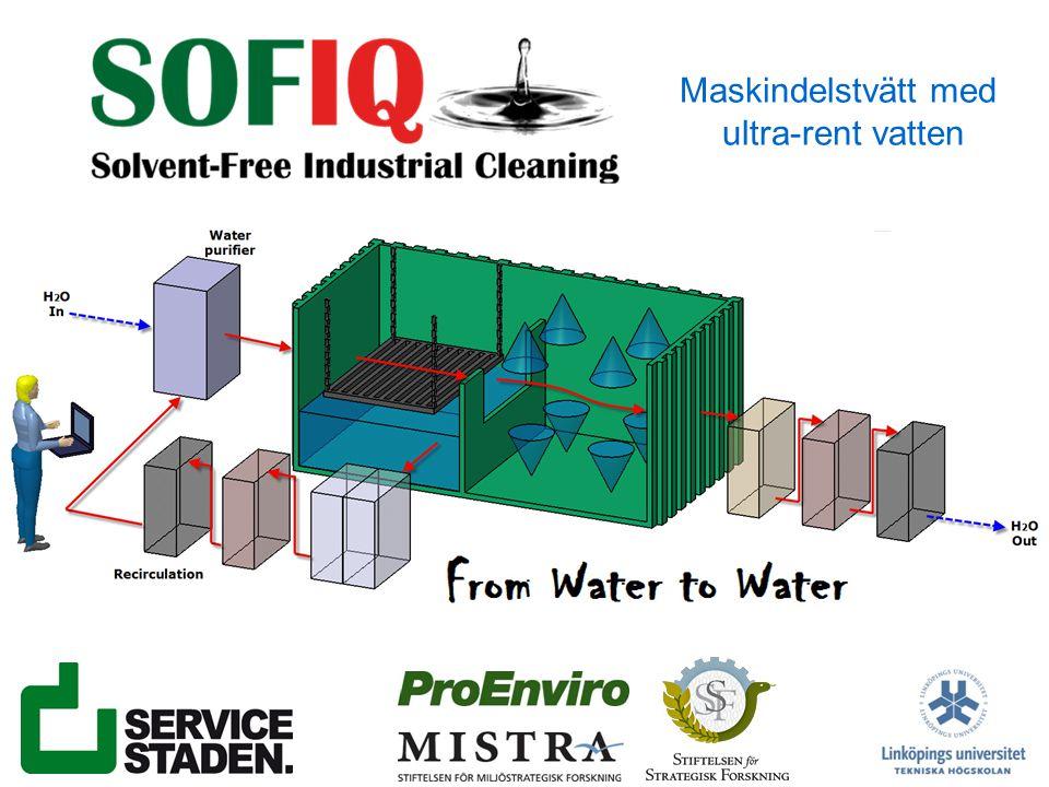 Maskindelstvätt med ultra-rent vatten
