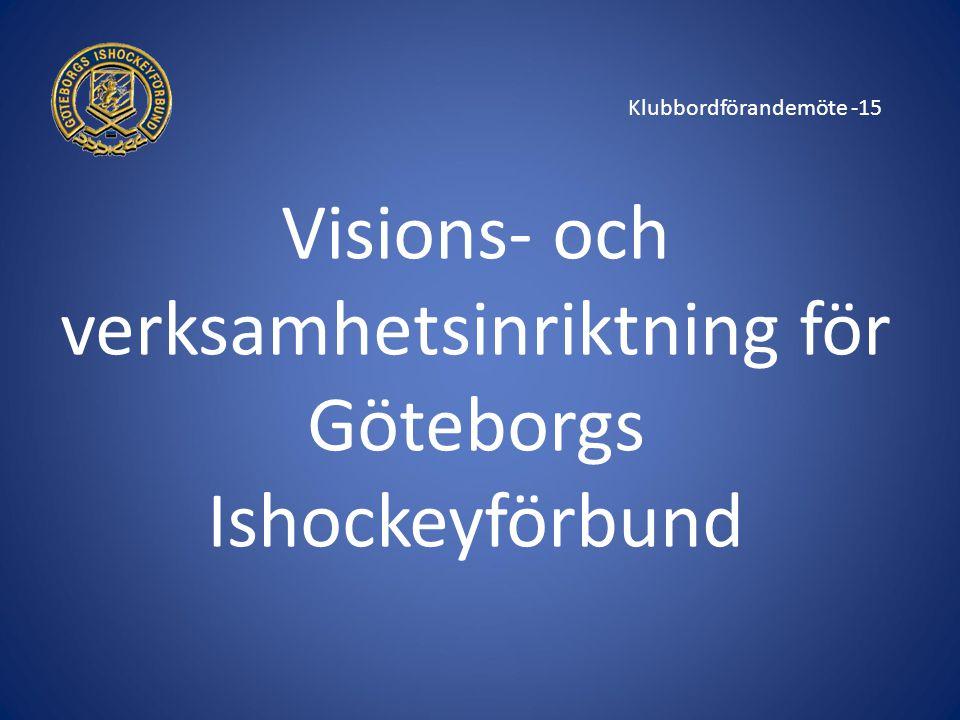 Klubbordförandemöte -15 Visions- och verksamhetsinriktning för Göteborgs Ishockeyförbund