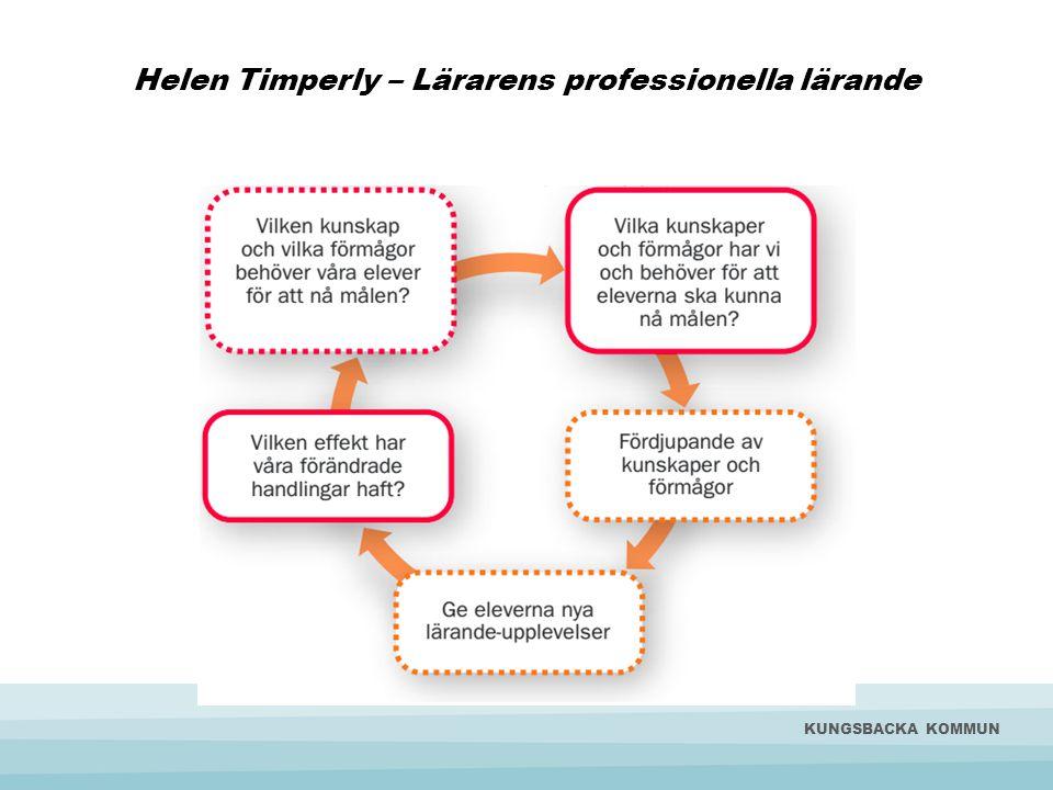 Helen Timperly – Lärarens professionella lärande KUNGSBACKA KOMMUN