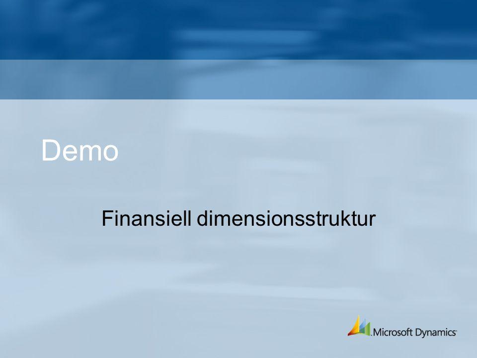 Demo Finansiell dimensionsstruktur