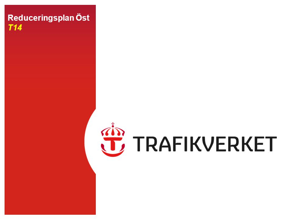 22015-04-22 Infrastruktur Reducering grön Normal trafik Reducering gul Mindre störning Reducering orange Större störning Reducering röd Stopp i tågtrafiken Trafikering enligt tågplan, men smärre förseningar kan förekomma Trafikering enligt tågplan, men med vissa störningar som förväntas förekomma en längre tid Allvarlig typ av störning, trafikering enligt tågplan kan ej ske på en eller flera sträckor.