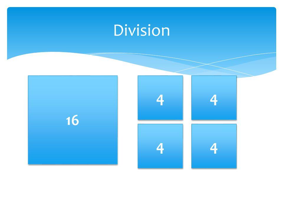 Division 16 4 4 4 4 4 4 4 4