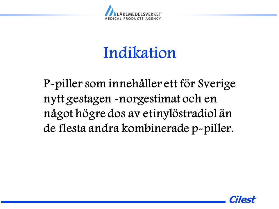 Cilest Indikation P-piller som innehåller ett för Sverige nytt gestagen -norgestimat och en något högre dos av etinylöstradiol än de flesta andra kombinerade p-piller.