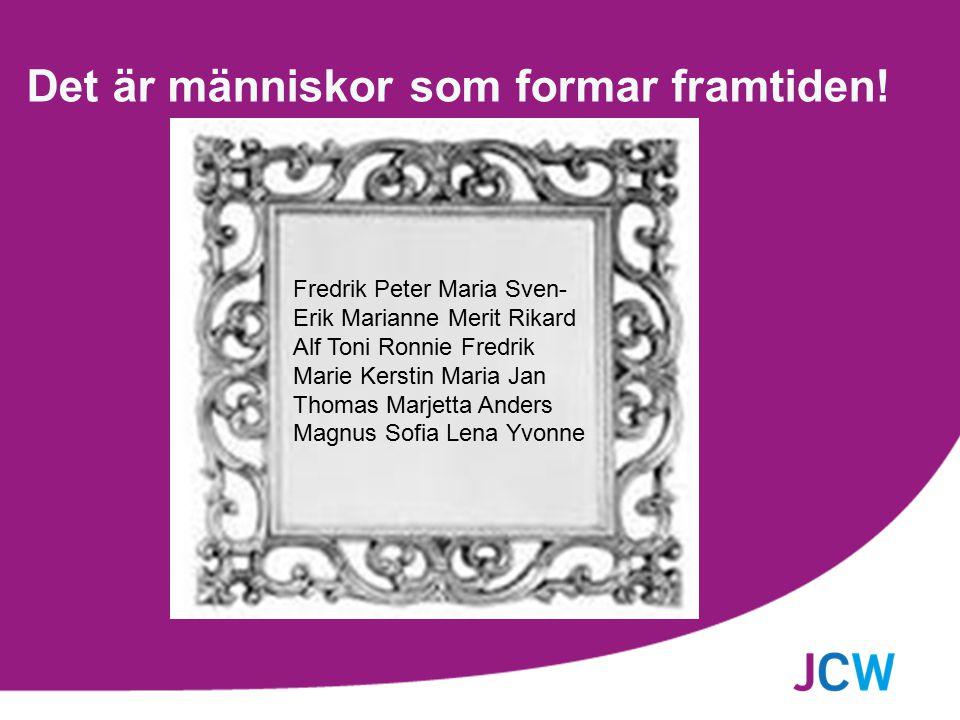 Det är människor som formar framtiden! Fredrik Peter Maria Sven- Erik Marianne Merit Rikard Alf Toni Ronnie Fredrik Marie Kerstin Maria Jan Thomas Mar