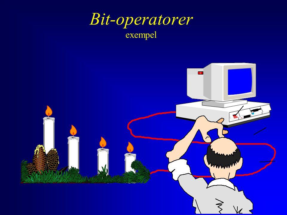 Bit-operatorer exempel